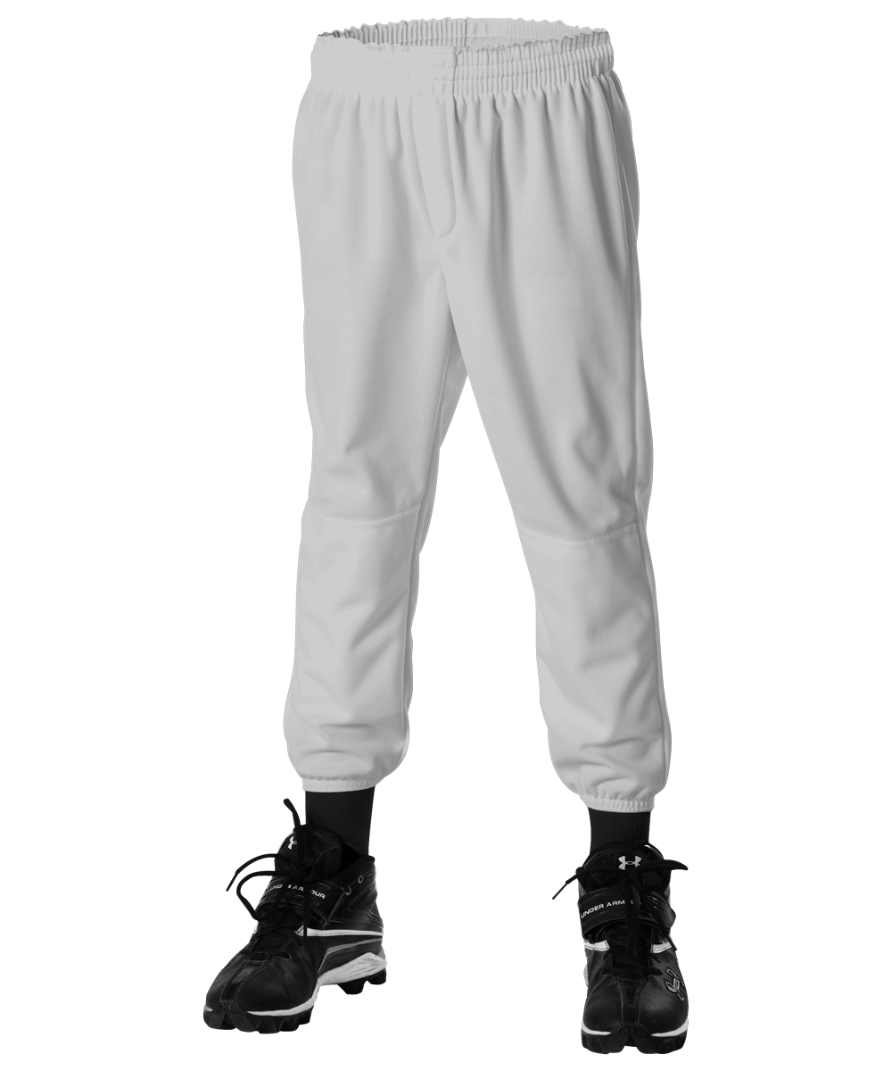 Youth Pull Up Baseball Pant - Grey
