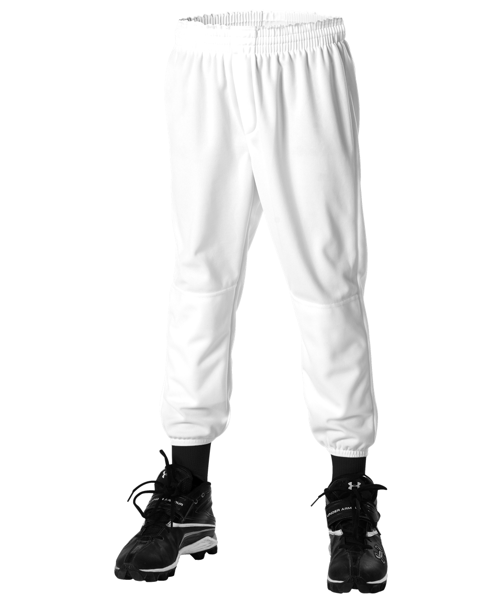 Youth Pull Up Baseball Pant - White