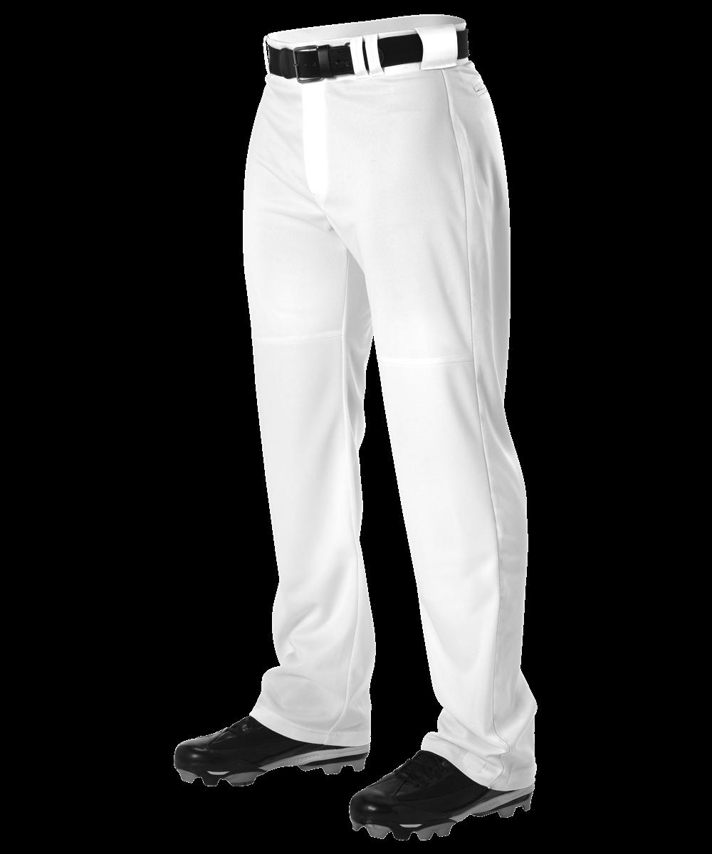 Youth Warp Knit Wide Leg Baseball Pant - White