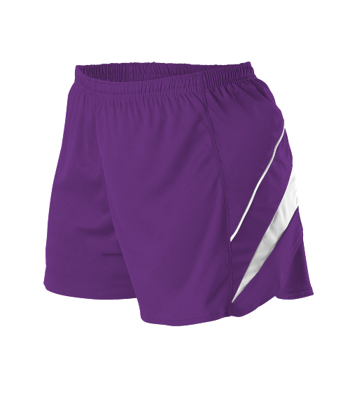 Womens Loose Fit Track Short - Purple/White